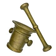 vintage mortar and pestle - stock photo