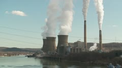 FirstEnergy Bruce Mansfield Power Station 1 Stock Footage