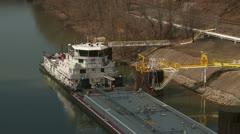 Marathon Petroleum Towboat 2 Stock Footage