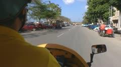 Coco Taxi Old Havana 2 Stock Footage