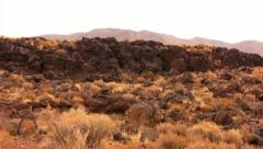 Volcanic Rock Formation 15 Fossil Falls California Stock Footage