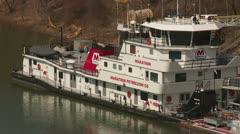 Marathon Petroleum Towboat 1 Stock Footage