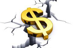Financial crisis concept Stock Illustration