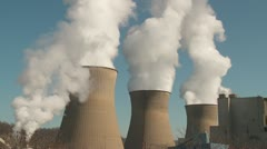Power Plant Cooling Towers 5 Stock Footage