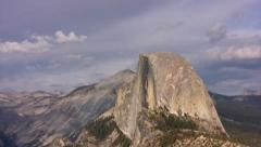 Yosemite 62 Half Dome Timelapse Clouds - stock footage