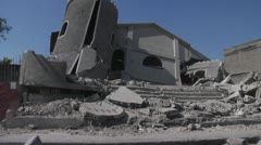 Collapsed Building in Haiti Stock Footage
