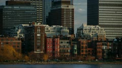 Brownstones and Skyscrapers Boston - stock footage