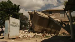 Collapsed Haiti Building - stock footage