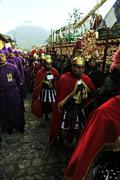 Semana Santa (Holy Week) in Antigua, Guatemala Stock Photos
