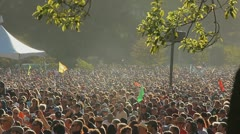 LARGE OUTDOOR ROCK CROWD Stock Footage