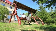 Lonley Park Swings Stock Footage