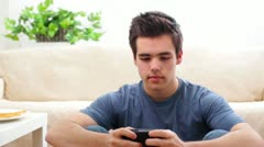 Young Man Teen Male Texting - stock footage
