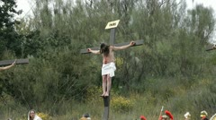 Christ crucified - stock footage
