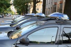 Police Cars Stock Photos