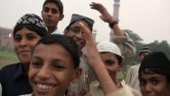 Stock Video Footage of Pakistani cricket boys smile into camera