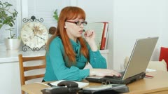 Woman Is Tired Stock Footage