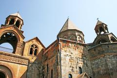 ancient apostolic church in armenia - stock photo