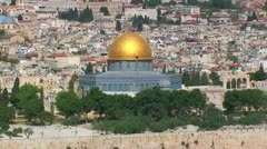 Cityscape of Jerusalem, Israel - stock footage