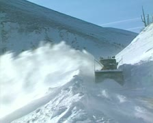 Snow storm, People overcome snowstorm - stock footage