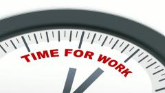 Time for Work ticking clock Stock Footage