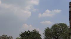 Aeroplane & Qutub Minar 4 Stock Footage