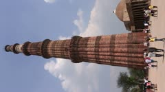 Qutub Minar : The world Heritage site Stock Footage