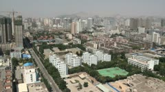 Skyline of Lanzhou city, China Stock Footage