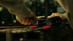 Configuring ski screwdriver Stock Footage