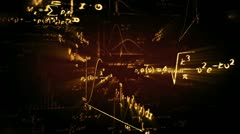 shining physics maths formulas loop - stock footage