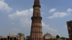 Qutub Minar : The world Heritage site 2 Stock Footage