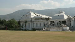 Haiti National Palace Collapsed from Earthquake - stock footage