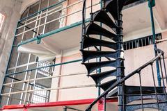 Prison cells at alcatraz island Stock Photos
