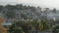 Haiti Houses on a Hillside - stock footage