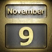Stock Illustration of november 9 golden sign