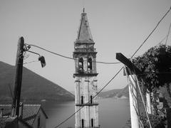 Bell Tower in Perast, Kotor Bay, Montenegro Stock Photos
