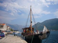 Fishing Boat in Perast, Kotor Bay - stock photo
