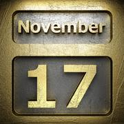 Stock Illustration of november 17 golden sign