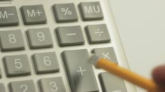 Calculation. - stock footage