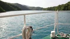Sailing on the beautiful lake Stock Footage