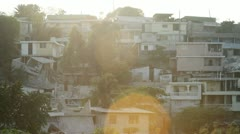 Destroyed Homes on a Hillside in Haiti Stock Footage