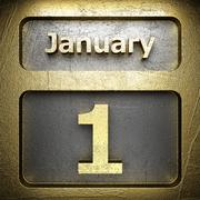 Stock Illustration of january 1 golden sign