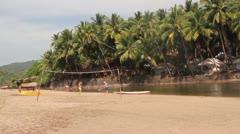 Palolem beach, Goa Stock Footage