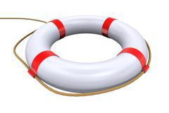 3d lifebuoy ring - lifesaver - stock illustration