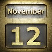Stock Illustration of november 12 golden sign