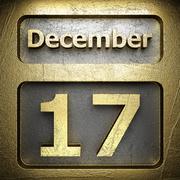 Stock Illustration of december 17 golden sign