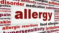 Allergy medical word clouds Stock Footage