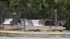 Haiti Tent City Stock Footage
