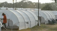 Haiti Refugee Camp Stock Footage