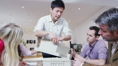 Dynamic young architects in a business meeting - stock footage