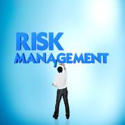Stock Photo of business word for business and finance concept, risk management